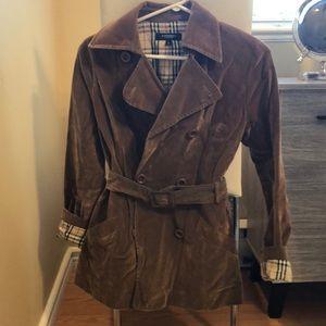 Burberry Brown Velvet Coat